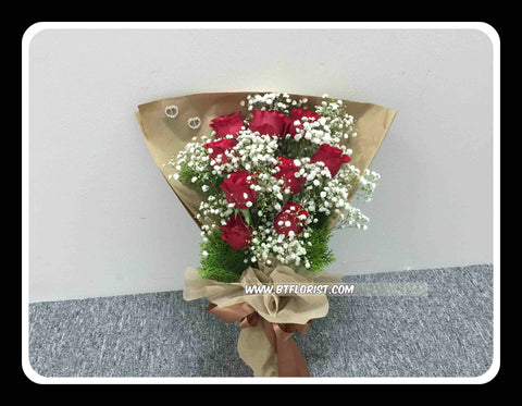 9 Rose Bouquet  - FBQ1238