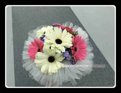 Simple Gerbera Bridal Bouquet  - WED0165