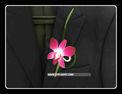 Simple Orchid Boutonniere II - WED0396