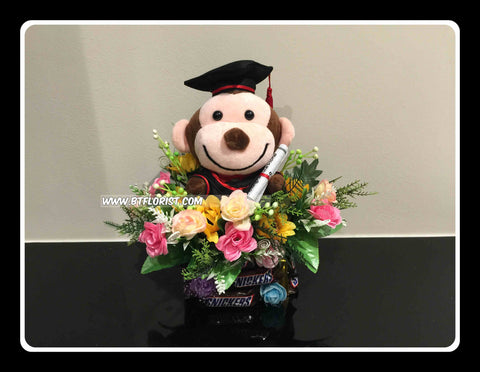 Graduation Monkey Arrangement   - BWF3601