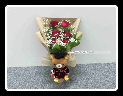 Graduation Rilakkuma Bouquet II(Fresh Flower)  - BBQ1370
