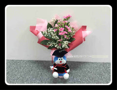 Graduation Doraemon Bouquet (Fresh Flower) - BBQ2349