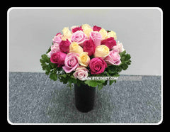 Colourful roses  (In Vase)   - TBF4076