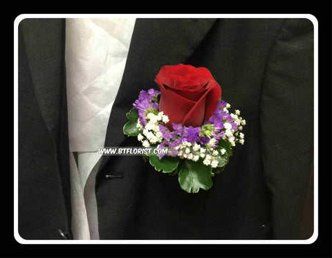 Red Rose Corsage IV - WED0220