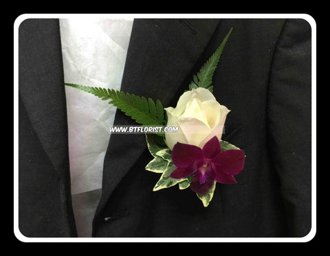 Rose n Orchid Corsage - WED0399
