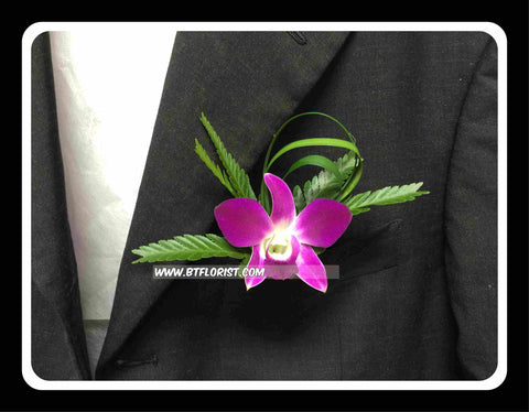Simple Orchid Boutonniere III - WED0397