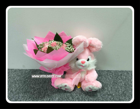 Rabbit with Rose Bouquet    - BBQ1380