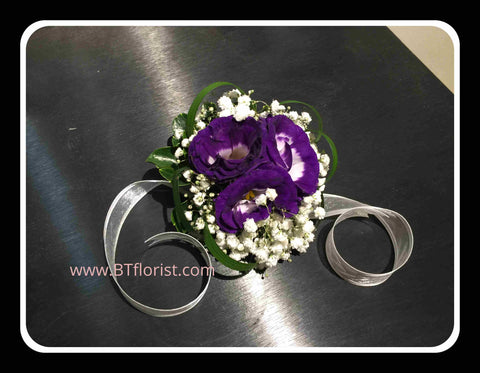 Fresh Eustoma Wrist Corsage - WED0583