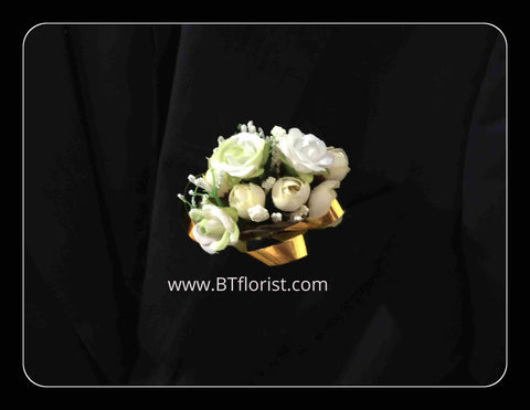 Artificial white rose Corsage  - ART0458