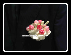 Artificial Hydrangea n Rose Corsage  - ART0434