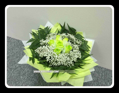 Green Rose Bouquet       - FBQ1322