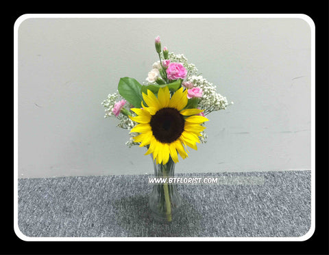 Sunflower & Carnation in Vase - TBF4148