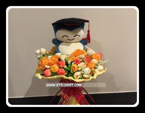 Graduation Snorlax Bouquet  - BBQ2345