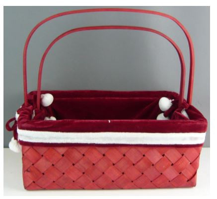 Red Basket Set of 2 - BAS0555