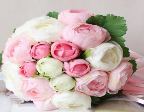 Pink/White Bridal Bouquet   - WED0358