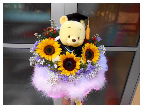 Graduation Pooh Bouquet - BBQ2127