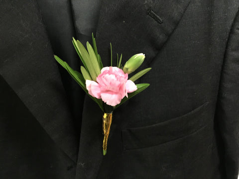 Simple Carnation Boutonniere - WED0388