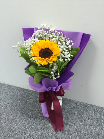 Single Sunflower One Side Bouquet- FBQ1311