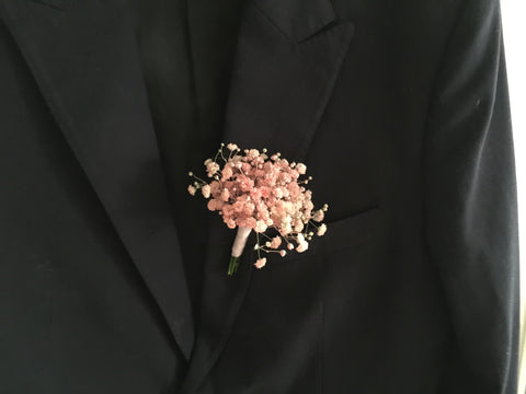 Baby Breath Boutonniere - WED0812