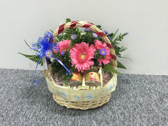 Bird Nest & Fresh Flower - FRB5586