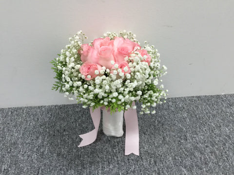 Rose n Baby Breath  - WED0184