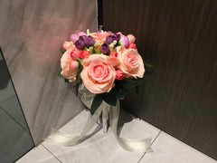 Artificial Rose Bridal Bouquet   - WED0328