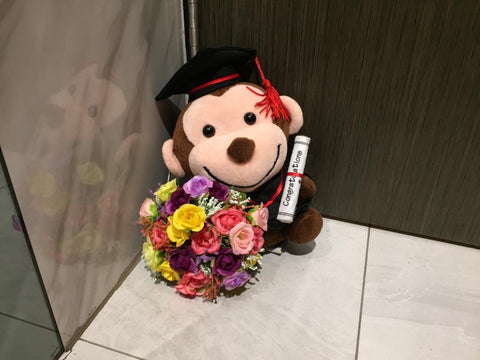 Graduation Monkey   - BWF3692