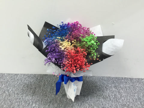 Colourful Baby Breath Bouquet      - FBQ1468