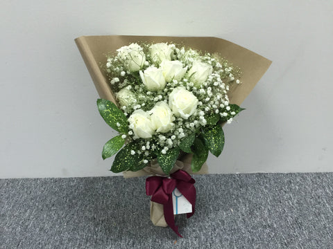 White Rose Bouquet - FBQ1479