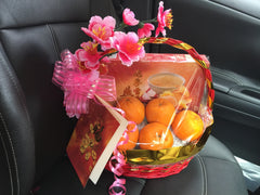 Orange & Bird Nest Basket      - MOB0802
