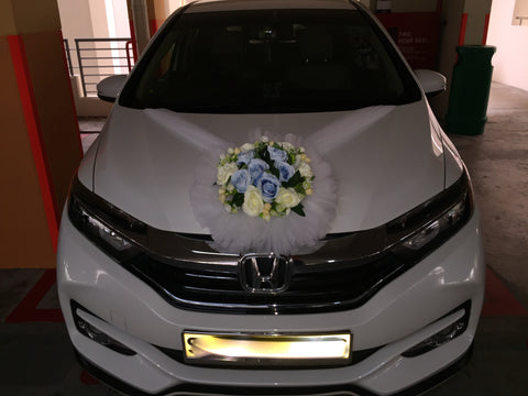 Simple Theme Car decoration ( Blue/White)- WED0772