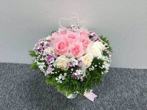 Sweet Heart Bridal Bouquet- Wed0174