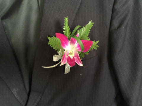 Simple Orchid Boutonniere - WED0428