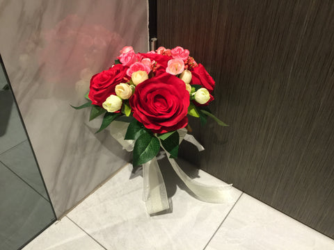 Artificial Rose Bridal Bouquet   - WED0803