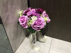 Artificial Rose Bridal Bouquet   - WED0802