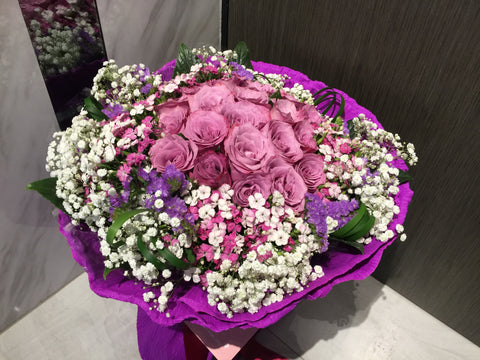 Purple Rose Bouquet - FBQ1023