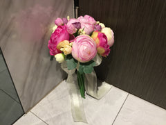Artificial Peony Bridal Bouquet   - WED0807