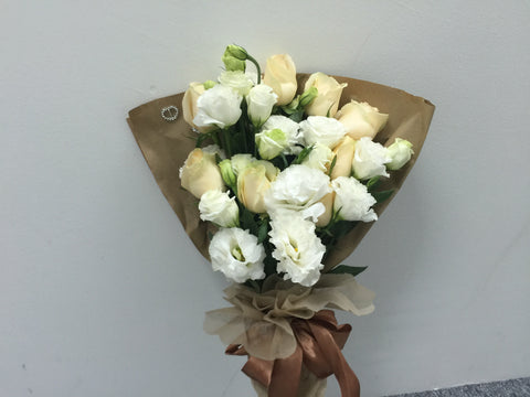 Rose & Eustoma Bouquet  - FBQ1490