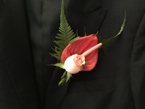 Anthurium Boutonniere - WED0271