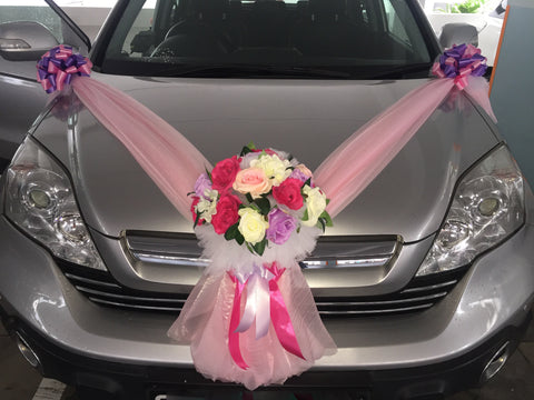 Purple/Pink Theme Car Decoration - WED0662