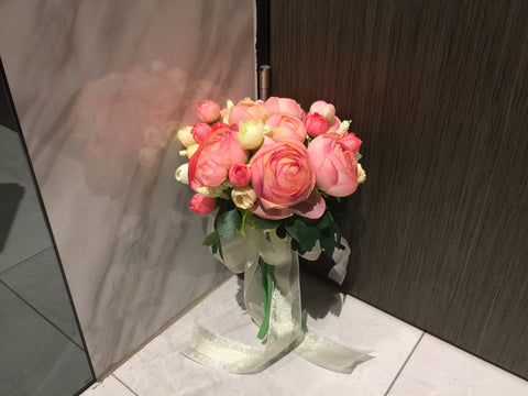 Artificial Peony Bridal Bouquet   - WED0808