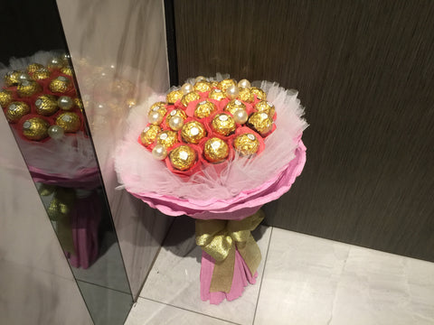 Pink Theme Chocolate Bouquet   - CHO1260