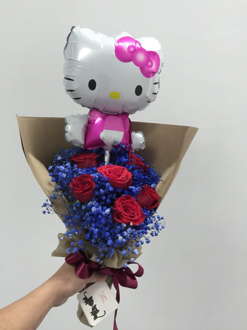 Rose Bouquet with Balloon  - FBQ1248
