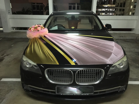 Small Creative Theme Car Decoration( Gold/Pink) - WED0729