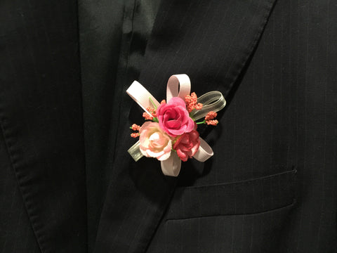 Artificial 3 Rose Corsage  - ART0404