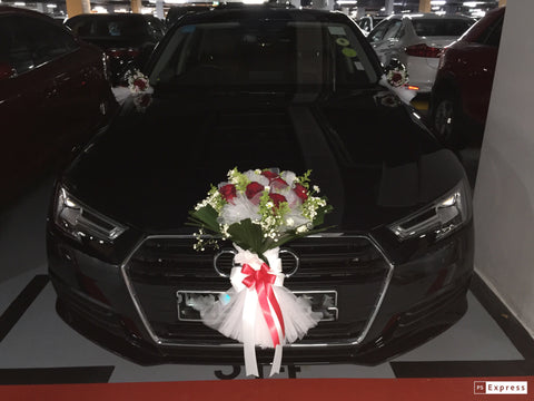 Simple Theme Fresh Flower Car Decoration - WED0646