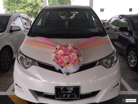 Simple Theme Car Decoration - WED0782