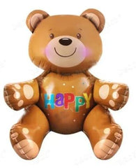 3D Happy Bear Balloon (Non Helium) - BAL0339
