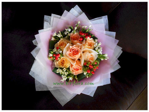 Sweet Champagne Bouquet - FBQ1294val