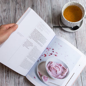 Skin Food Book open with tea by Sophie Thompson